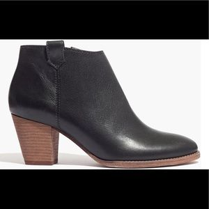 Madewell Billie Boot Black Leather Ankle 8